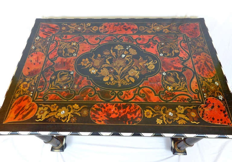 19th c. Italian Exotic Inlayed Table image 2