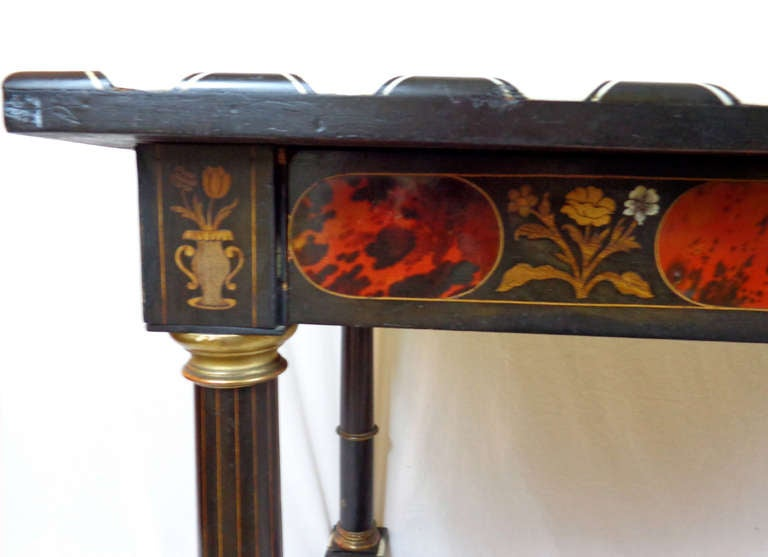 19th c. Italian Exotic Inlayed Table image 3