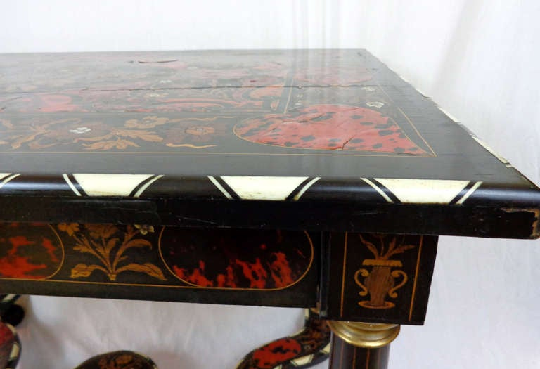 19th c. Italian Exotic Inlayed Table image 5
