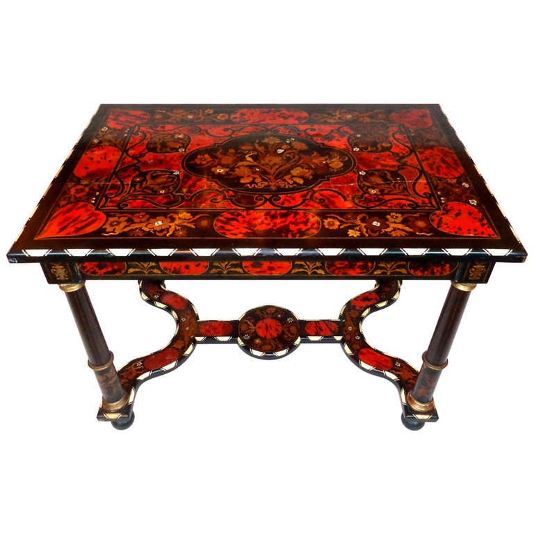 19th c. Italian Exotic Inlayed Table