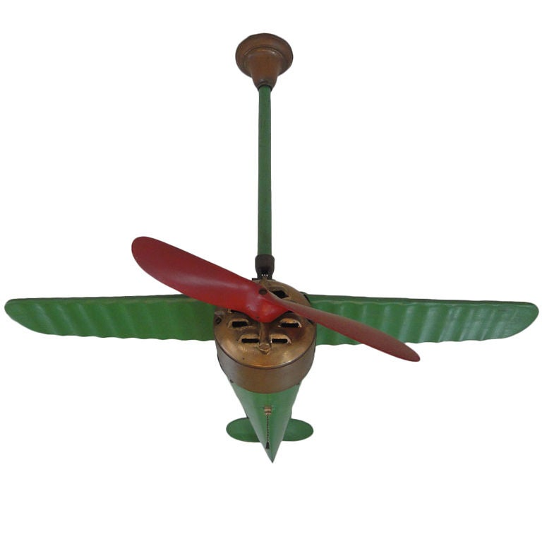 Aircraft Propeller Ceiling Fan : Rare lindy airplane ceiling fan