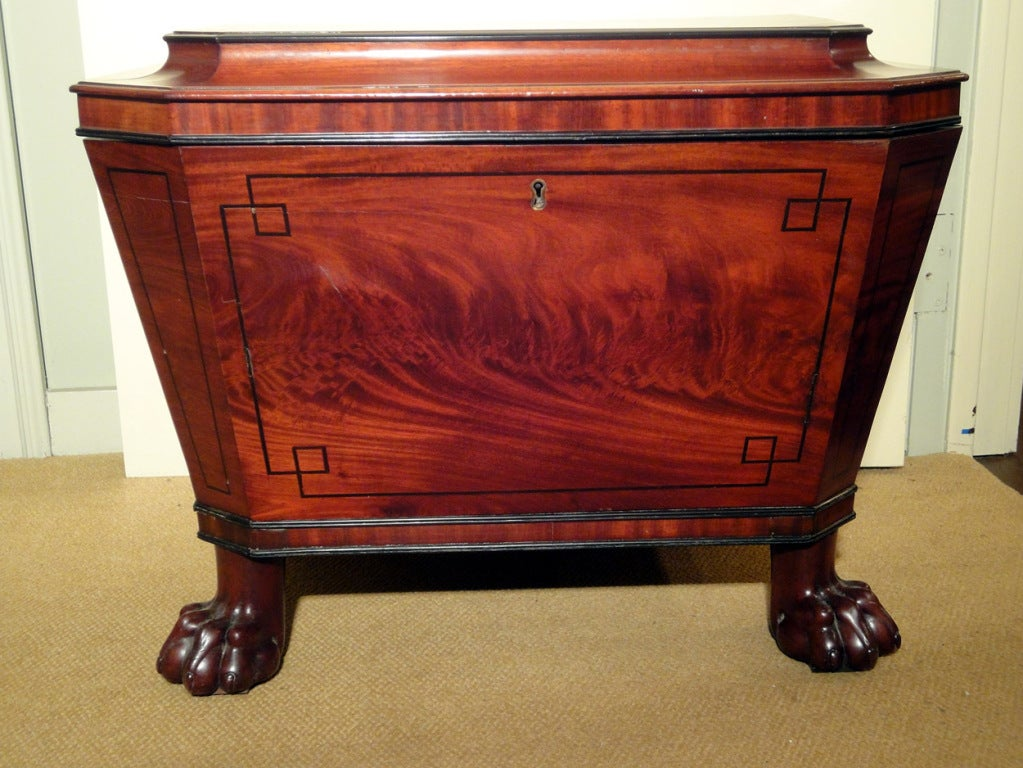 English Regency Cellarette with Lion's Paw Feet 2