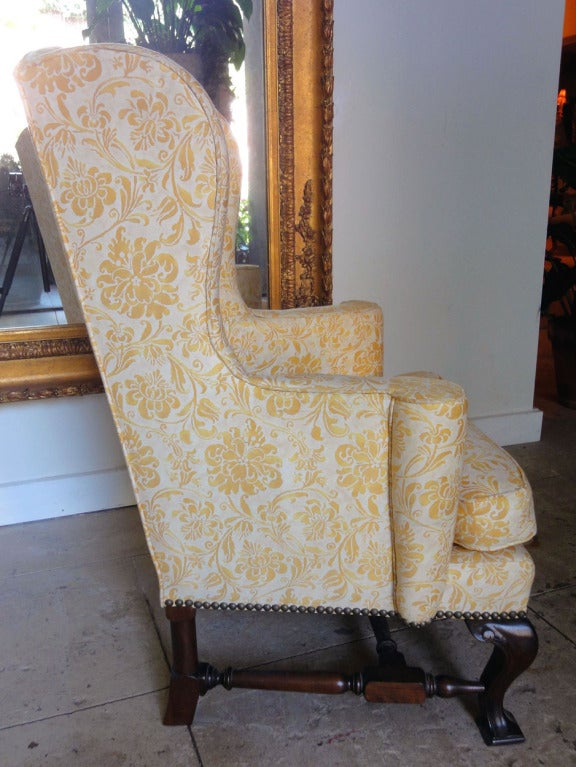 Childs Wingback Chair Upholstered In Fortuny At 1stdibs