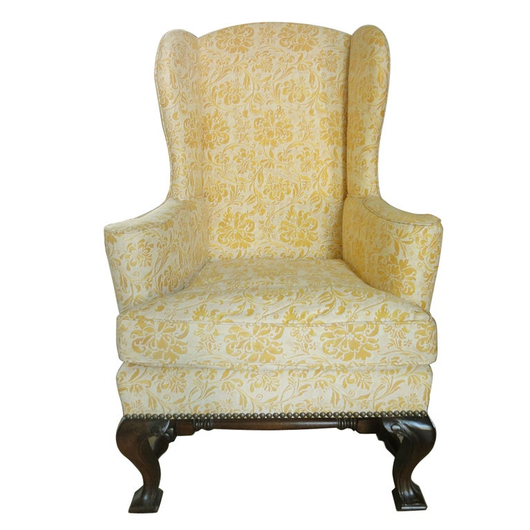 Child S Wingback Chair Upholstered In Fortuny At 1stdibs
