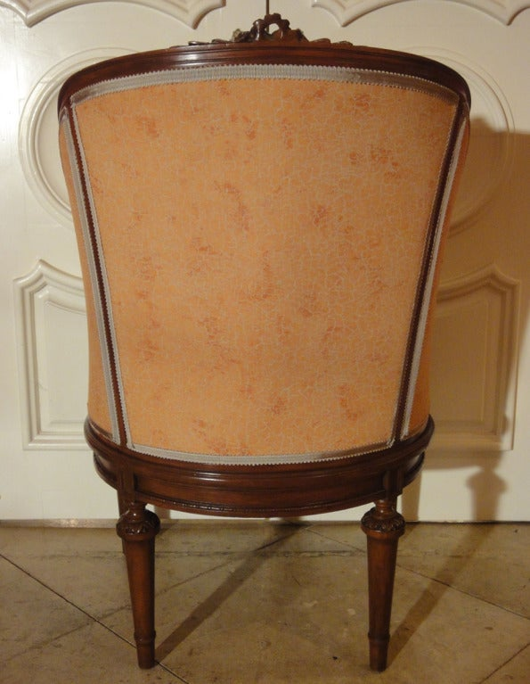 Louis XVI Style Mid-Century Caned Armchair 3