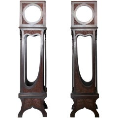 Pair of  19th Century Mirrored Plant Stands