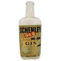 Large 1940s  Display Schenley Gin Bottle