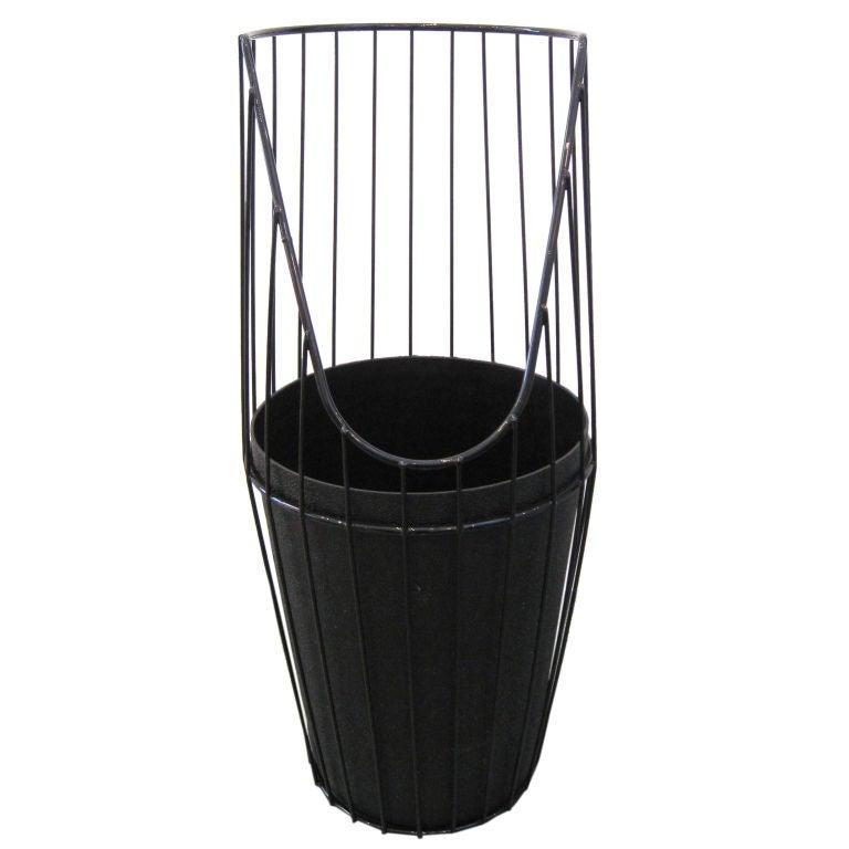 Umbrella Stand Black: Black Wire Umbrella Stand At 1stdibs