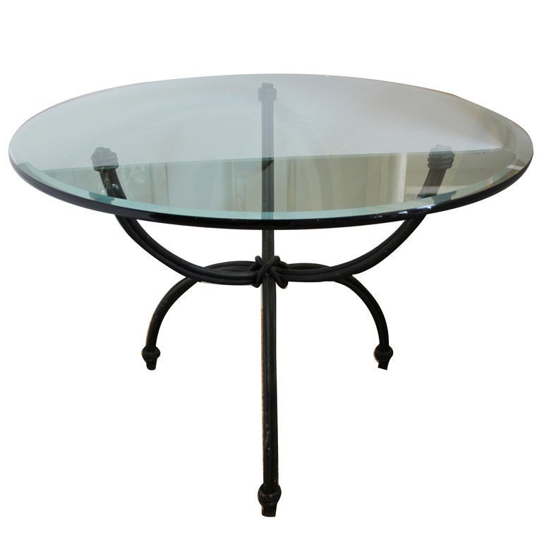 Wrought Iron Dining Table with Glass at 1stdibs : XXX850512856995421 from www.1stdibs.com size 768 x 768 jpeg 28kB