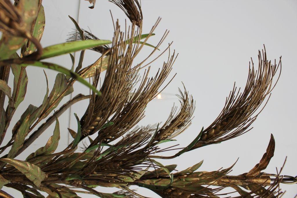 1950s Italian Sheaf of Wheat Metal Chandelier 4