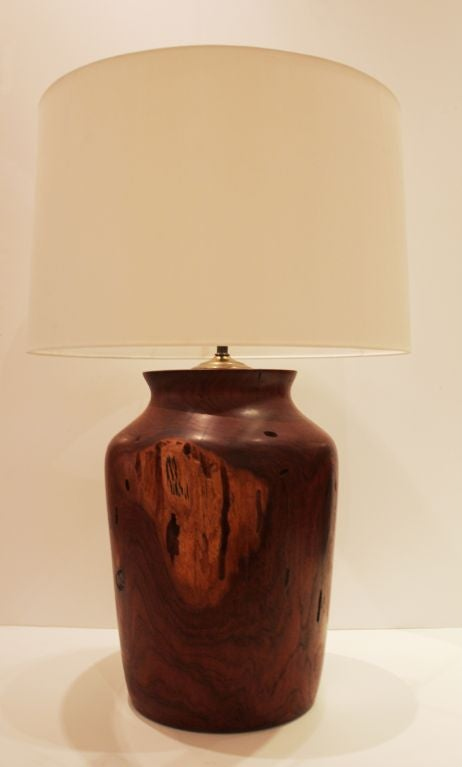 Large Mesquite Wood Lamp At 1stdibs