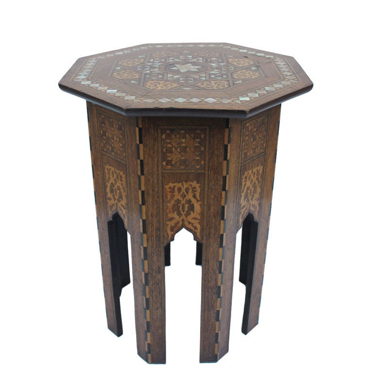 Octagon Side Table ~ Syrian octagonal side table at stdibs