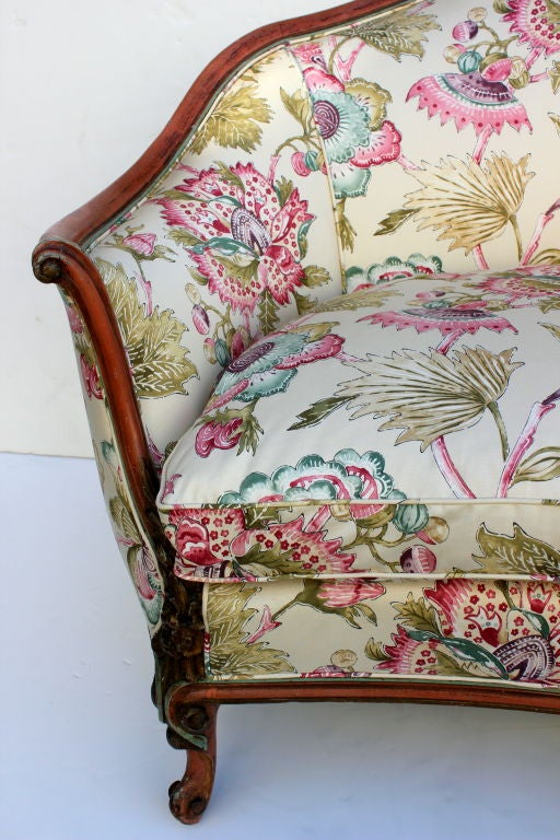 Italian Hand Painted Settee For Sale At 1stdibs