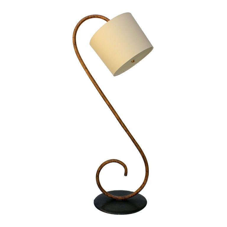 S Bent Wood  Floor Lamp 1