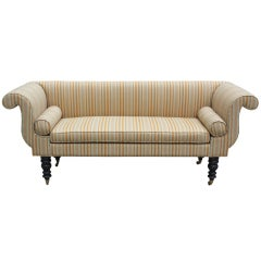 English Style Turned Wood Settee