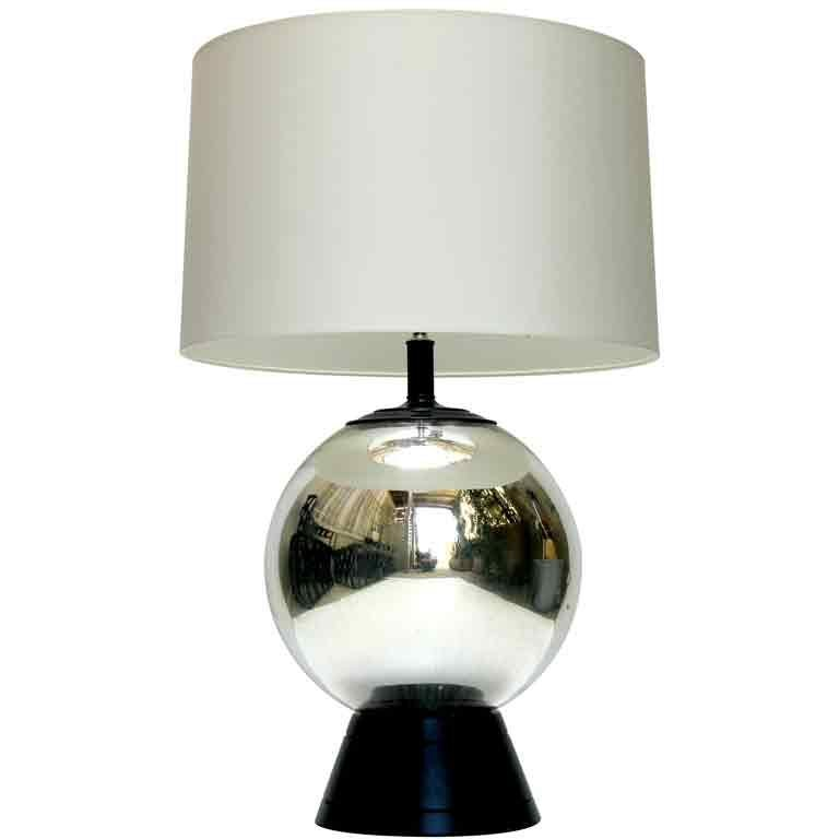 mercury glass lamp for sale at 1stdibs. Black Bedroom Furniture Sets. Home Design Ideas