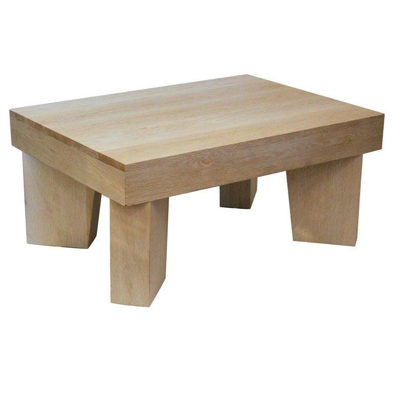 White Oak Cocktail Table