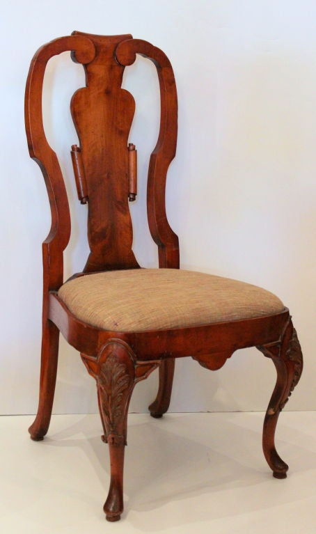 Pair of Queen Anne Chairs 2 - Pair Of Queen Anne Chairs For Sale At 1stdibs