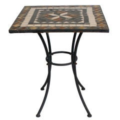 Mosaic Tile Top Iron Table