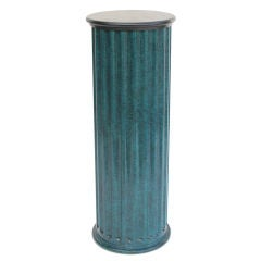 Lacquered Wood Pedestal