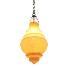 Hand Blown Glass Lantern