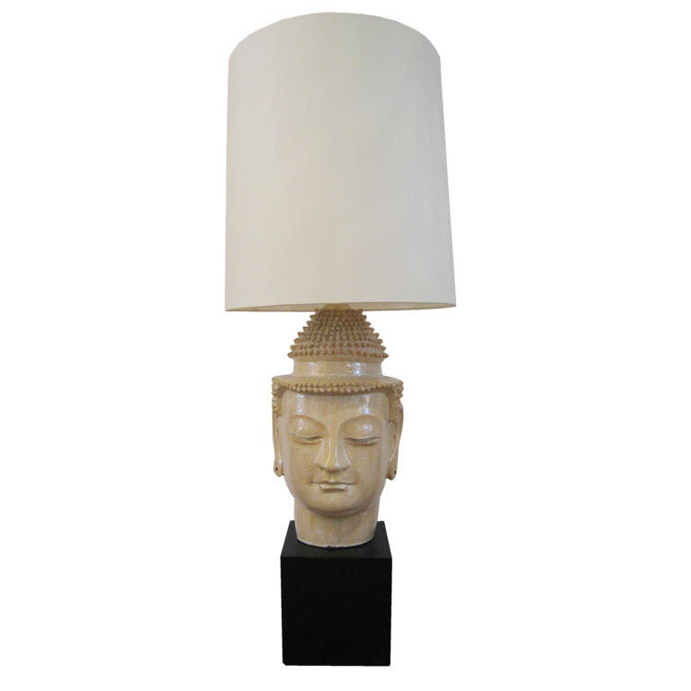 Glazed Terra Cotta Lamp