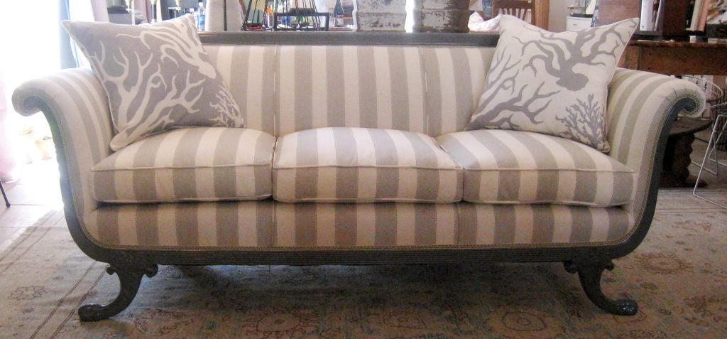 duncan phyfe style sofa at 1stdibs rh 1stdibs com Antique Duncan Phyfe Sofa Duncan Phyfe Reproduction Chairs