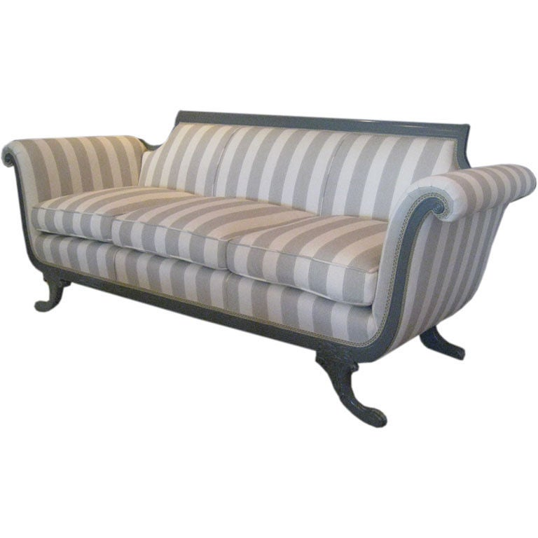 Duncan Phyfe Style Sofa At 1stdibs