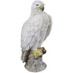 Large Italian Glazed Terra Cotta Eagle