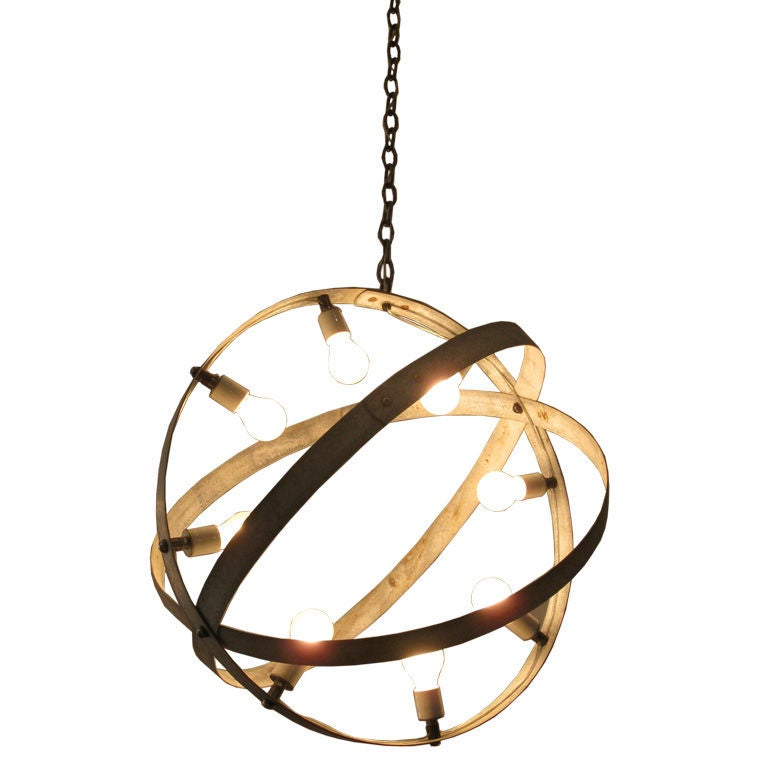 Metal armillary chandelier for sale at 1stdibs metal armillary chandelier for sale mozeypictures Images