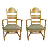 Set of 6 Herman DeVries Oak Chairs