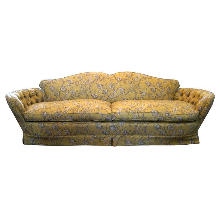 1930s linen toile sofa