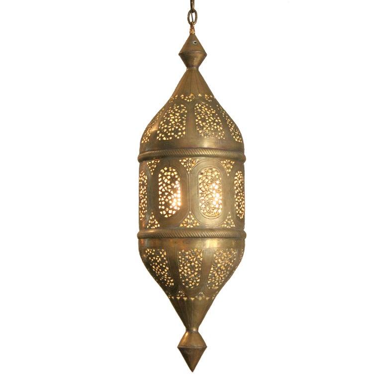 Brass Moroccan Lantern At 1stdibs