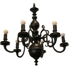 Bronze Chandelier with Black Matte Finish