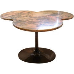 Marble Top Trefoil Focal Table