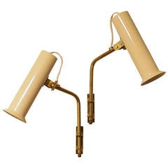 Tapio Wirkkala Adjustable Reading Lamps or Sconces, 1950s