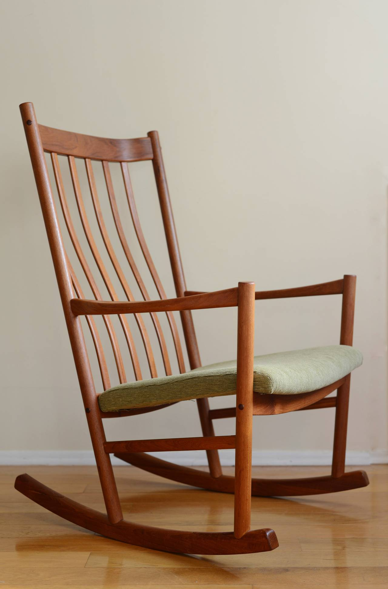Hans Wegner Teak Rocking Chair at 1stdibs
