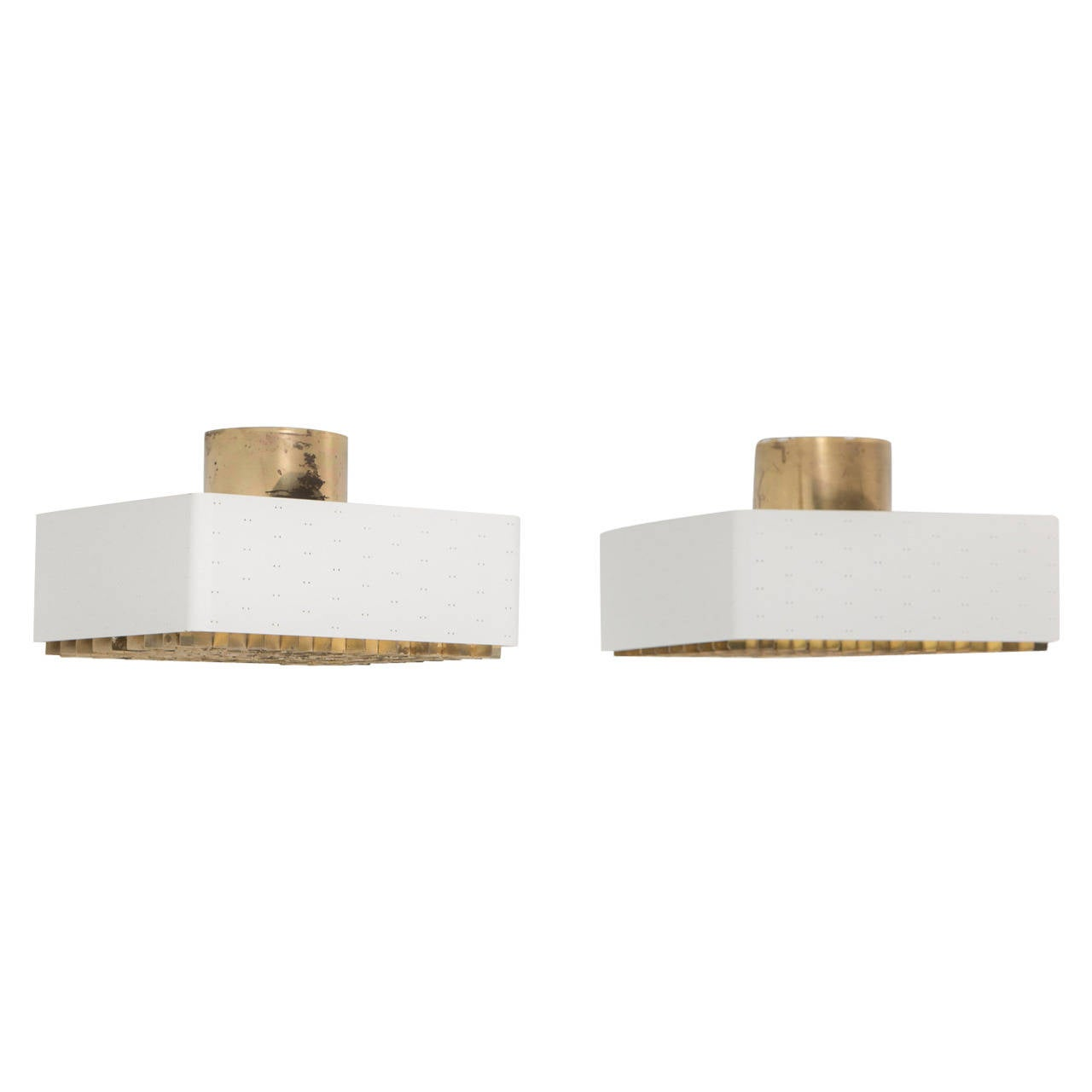 Pair of Paavo Tynell Ceiling Lamps, Model 9068