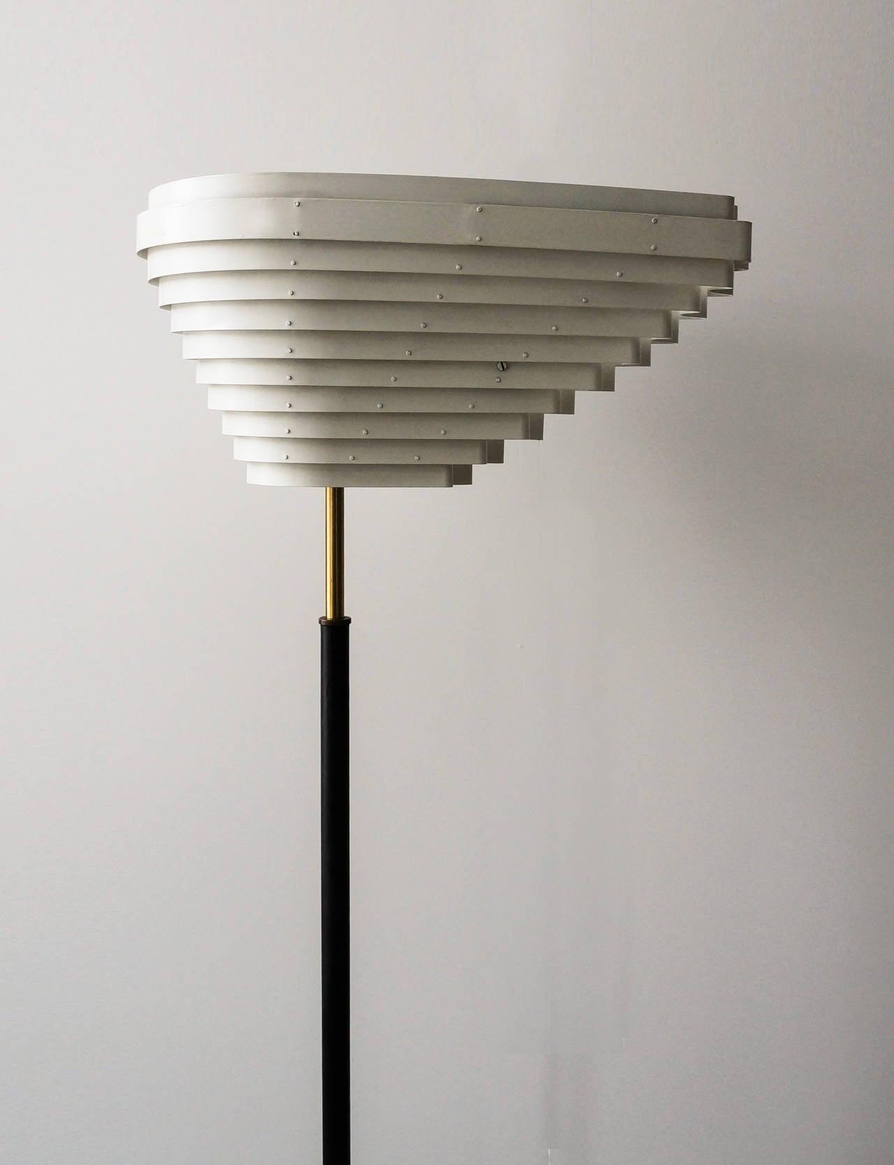 Finnish Early Alvar Aalto Floor Lamp, Model A805 for Valaistustyö Ky, 1954 For Sale