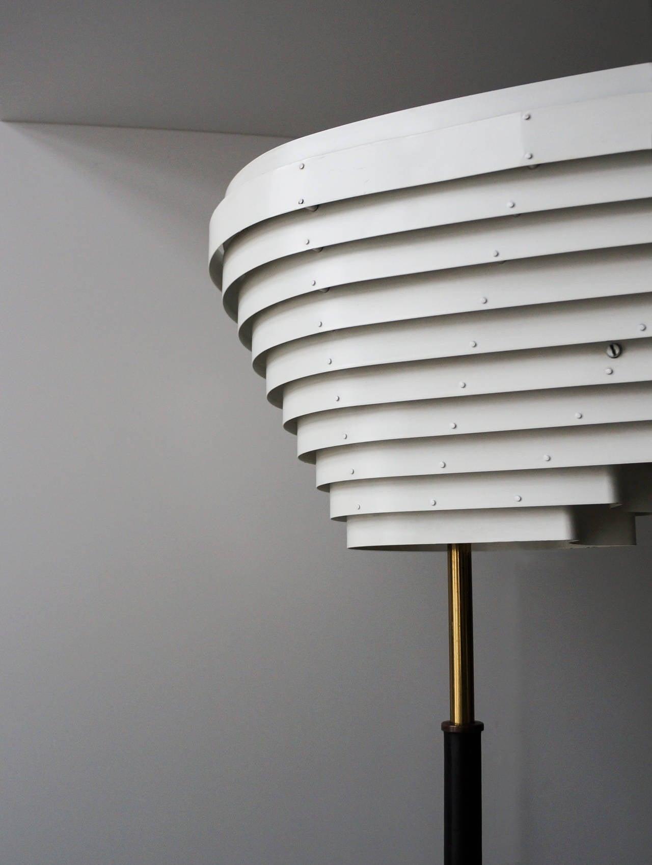 Mid-20th Century Early Alvar Aalto Floor Lamp, Model A805 for Valaistustyö Ky, 1954 For Sale