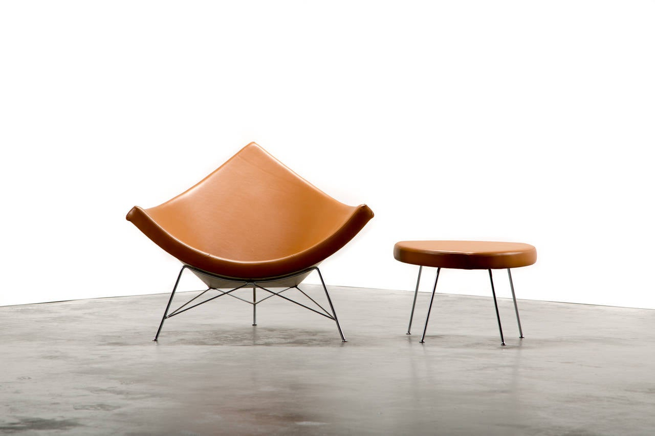 George Nelson For Herman Miller Coconut Chair And Ottoman