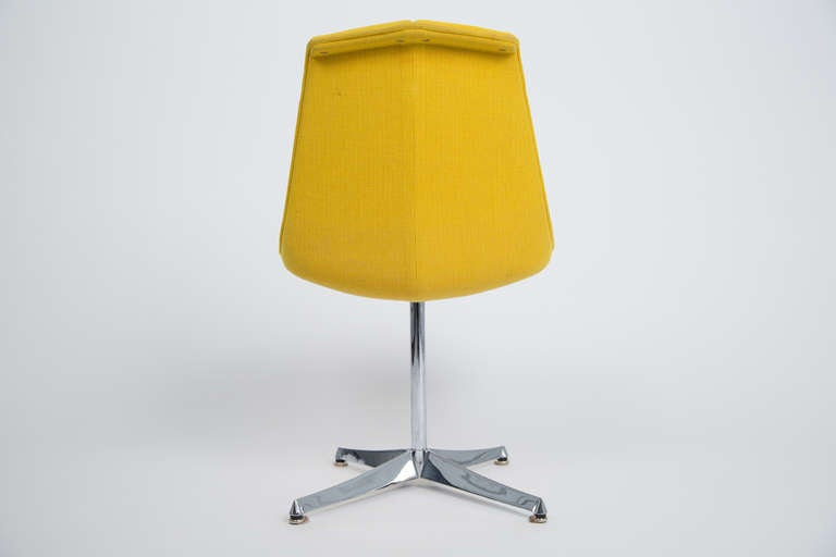 Richard Schultz for Knoll Six Dining Chairs with Rare Plated Base, 1960 In Excellent Condition For Sale In Houston, TX