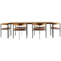 Poul Kjaerholm for E. Kold Christensen Dining Set, Original Condition, 1957