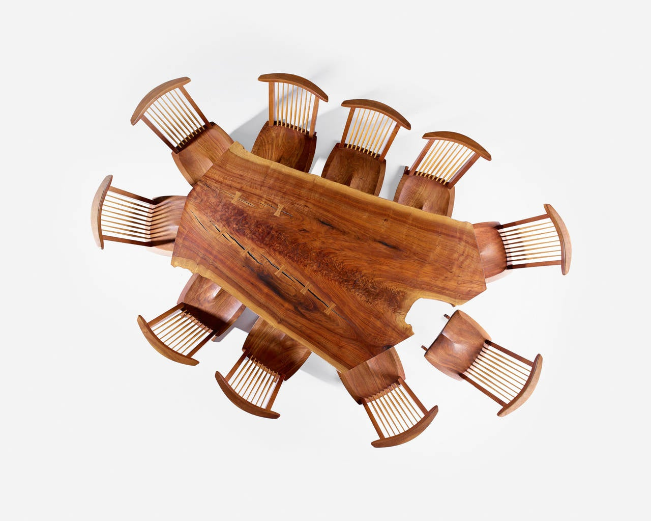 Butterfly chair original - George Nakashima Custom Sanso Table And Set Of Ten