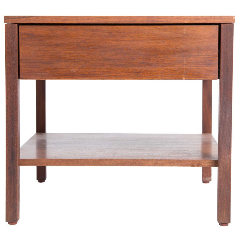 Florence Knoll Nightstand in Walnut