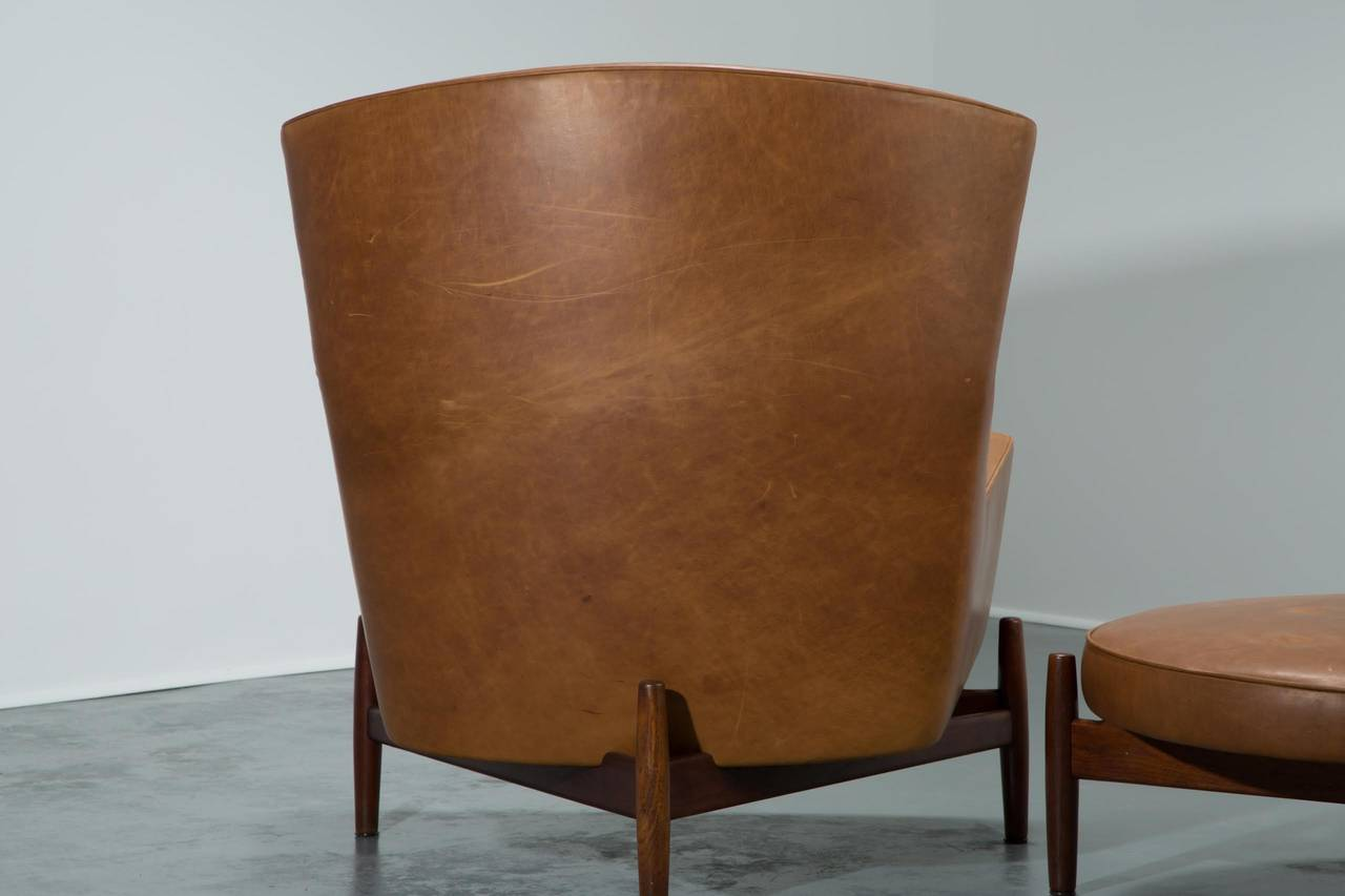 jens risom lounge chair and ottoman for sale at 1stdibs