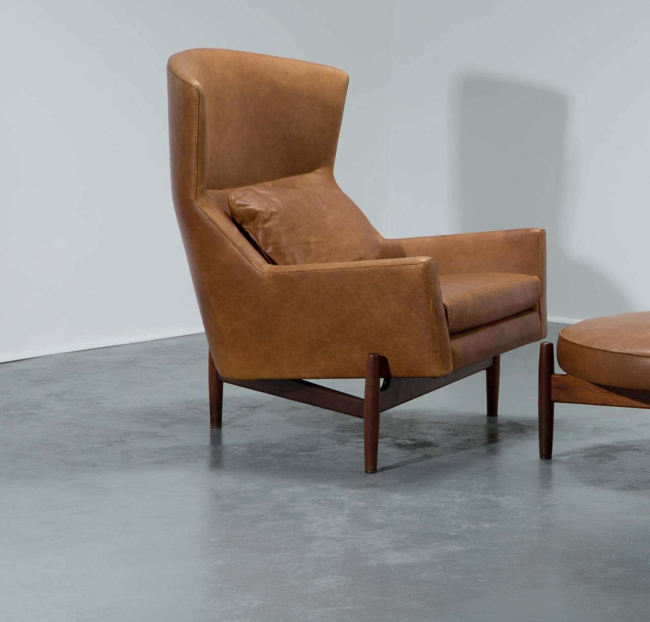 Ordinaire Jens Risom Lounge Chair And Ottoman For Sale 1