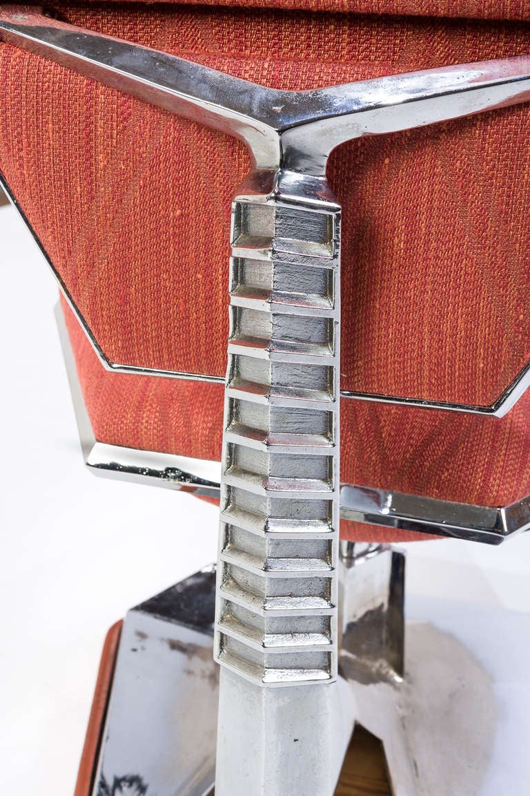 Aluminum Frank Lloyd Wright Chair from Price Tower, 1956 For Sale