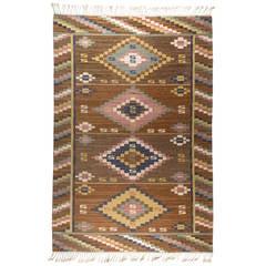 "Märta Måås-Fjetterström ""Gråsten"" Flat-Weave Carpet, MMF, 1930s"