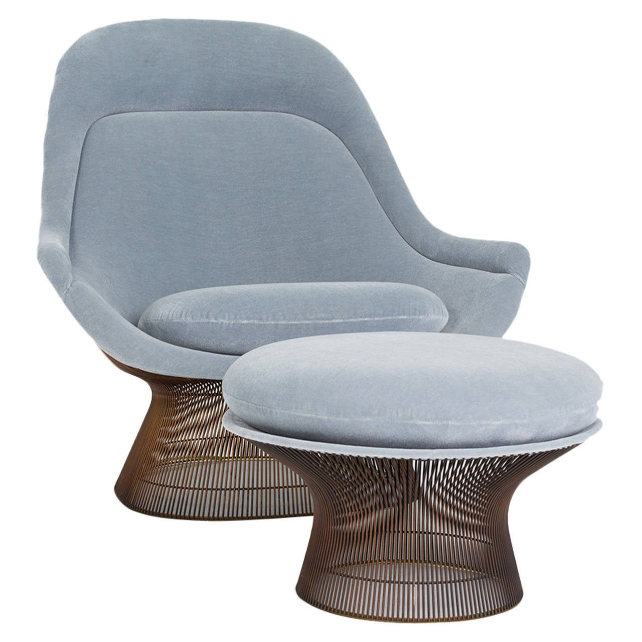 Warren platner lounge chair and ottoman for knoll at 1stdibs - Knoll inc chairs ...